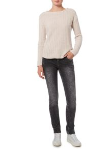 Oui Textured long sleeved knit