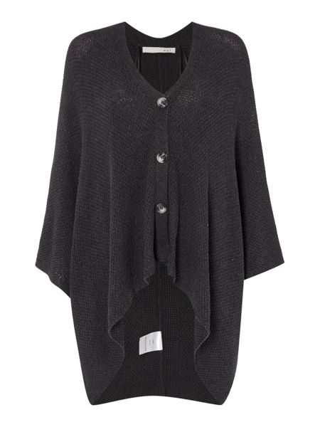 Oui Button Down Poncho