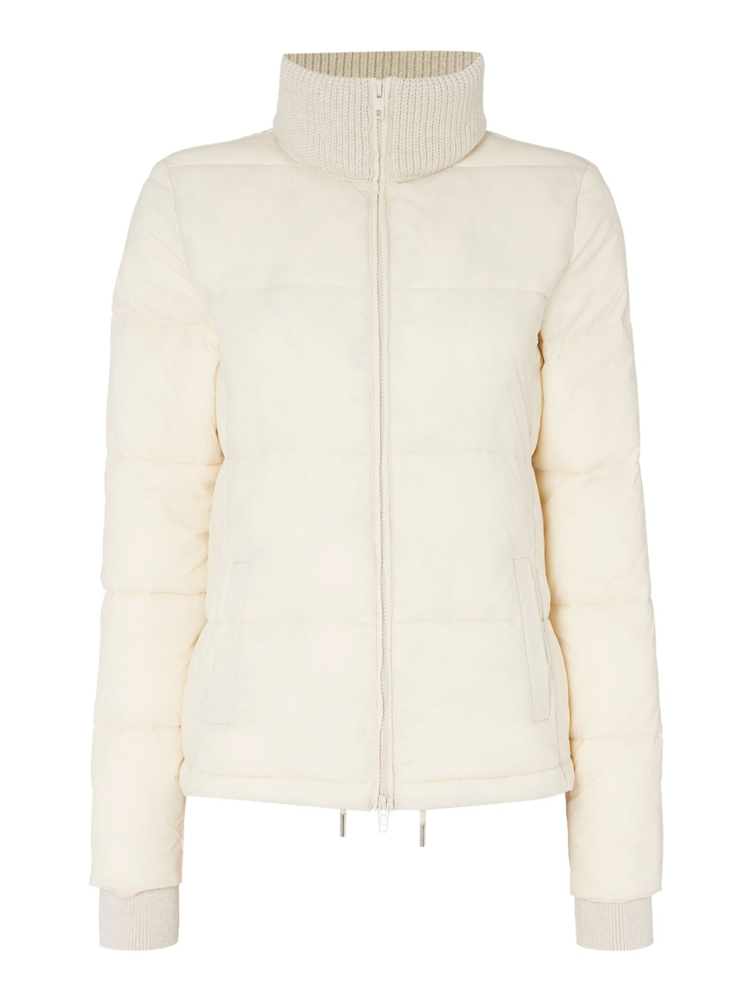 Oui Quilted Jacket, Cream
