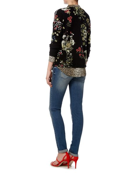 Oui Flower print sweater