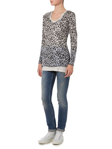 Oui Long sleeved layer t-shirt