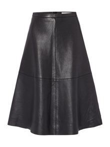 Oui A line leather skirt