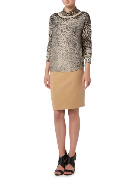 Oui Short cashmere mix skirt