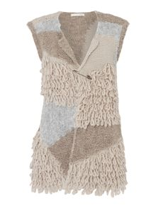 Oui Textured knitted gilet