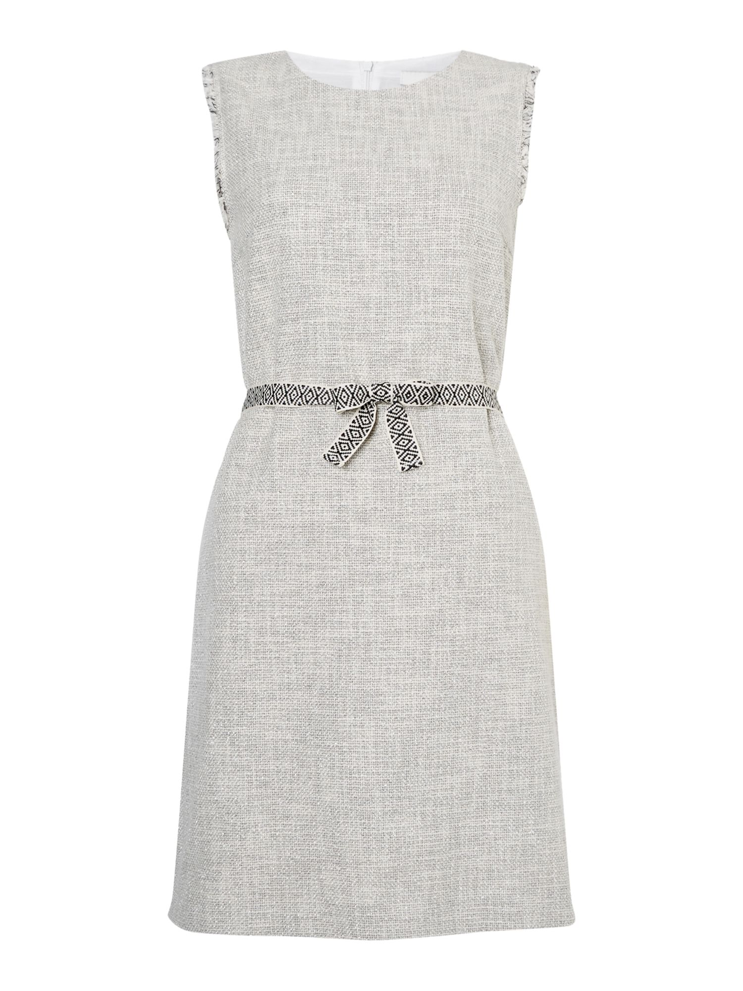 Oui Textured shift dress, Off White