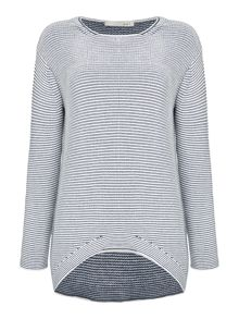 Oui Textured stripe jumper