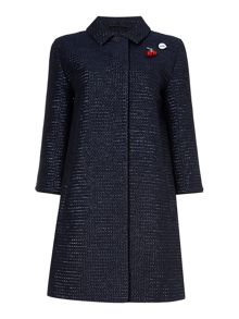 Oui Textured coat