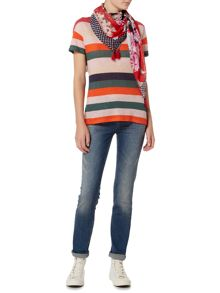 Oui Multi stripe t-shirt