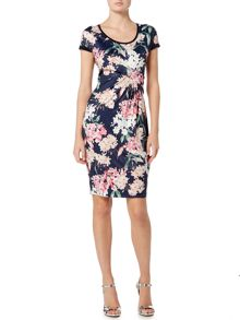Oui Floral short sleeve dress