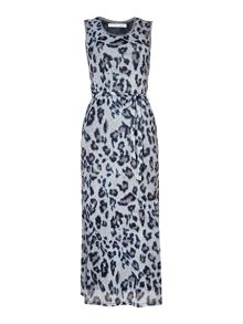 Oui Animal print maxi dress