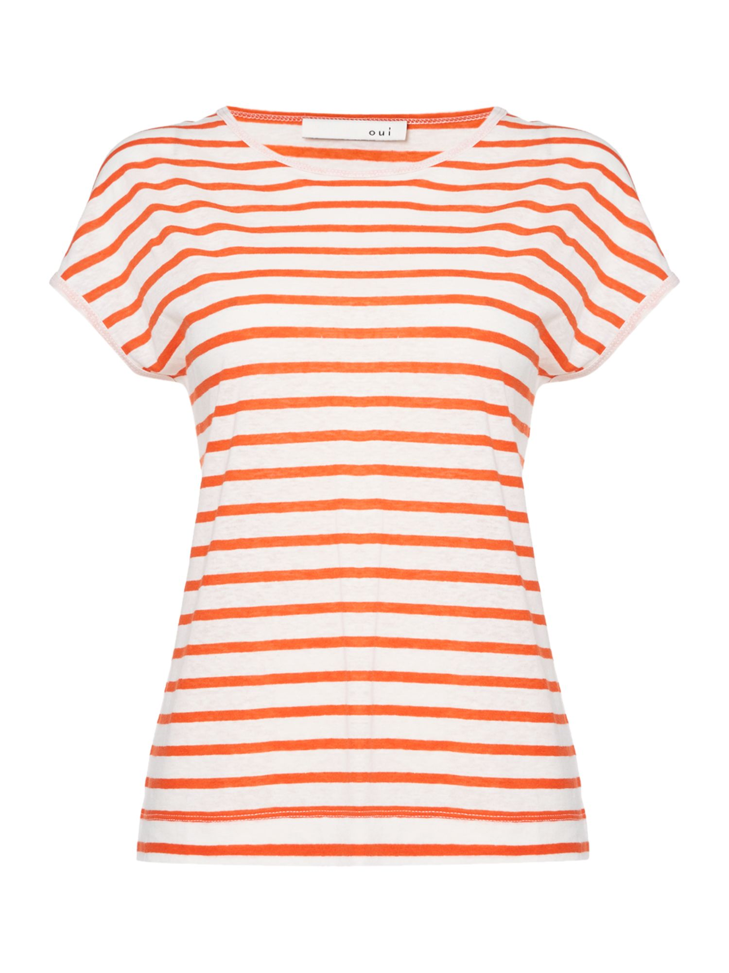 Oui Stripe t-shirt, White