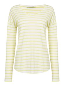 Oui Stripe t-shirt with pocket
