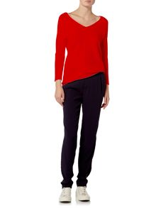 Oui Star ribbed jumper