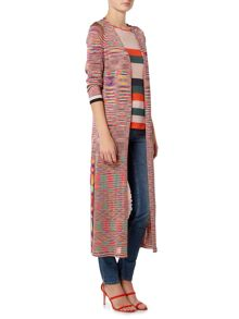 Oui Multi stipe long cardigan