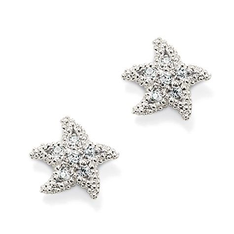 Seasonal White Starfish ear studs