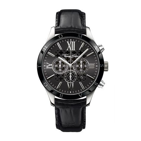 Rebel at Heart Black & Ceramic Bezel Watch