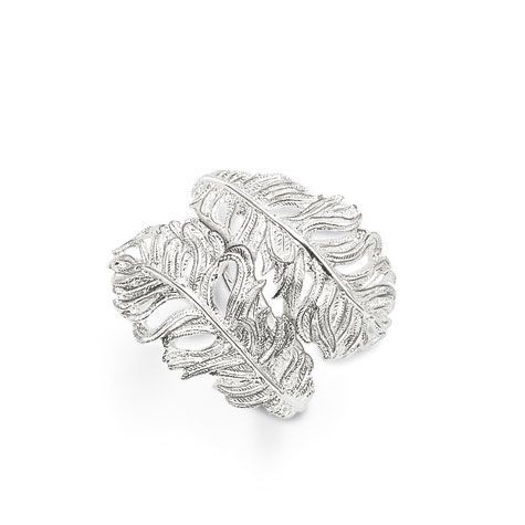 Classic Silver Double Feather Ring
