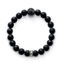 Thomas Sabo Rebel at Heart Black Matted Bracelet