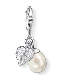 Charm Club Winged Heart with Pearl