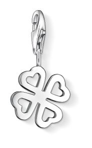 Charm Club Clover Leaf with Heart Petals