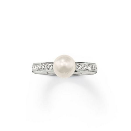 Thomas Sabo Seasonal White Zirconia Pearl Ring