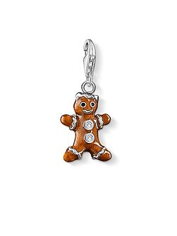 Charm club gingerbread man pendant
