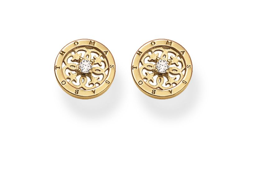 Special addition arabesque disc earrings