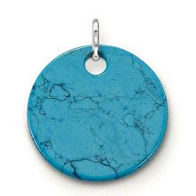 Special addition large turquoise disc