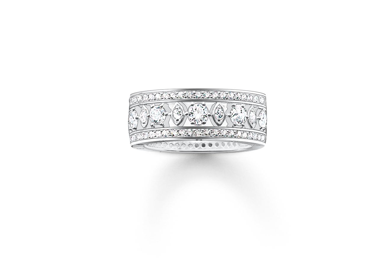 Glam and soul cz stone set decorative ring