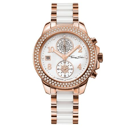Thomas Sabo Glam & soul crystal chronograph watch