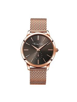 Rebel at heart rose gold mesh watch