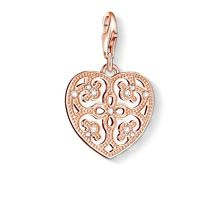 Charm club heart pendant