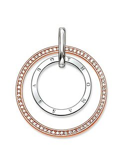 Glam & soul two-tone circles pendant