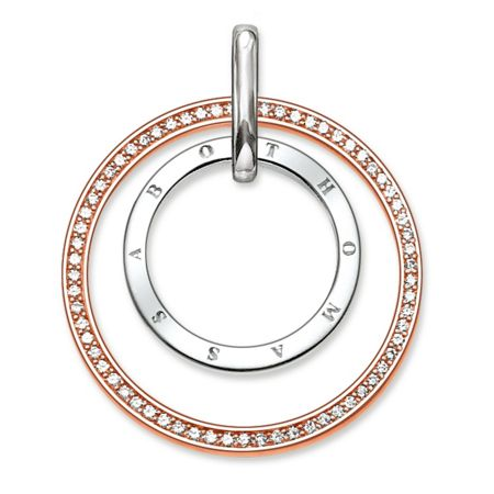 Thomas Sabo Glam & soul two-tone circles pendant