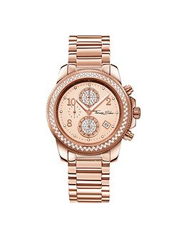 Glam & soul crystal chronograph watch