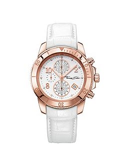 Glam & soul chronograph watch white