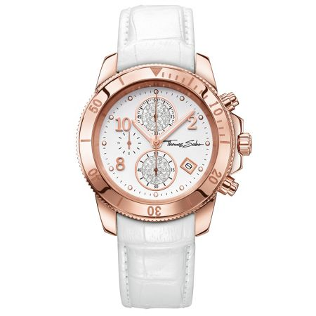 Thomas Sabo Glam & soul chronograph watch white
