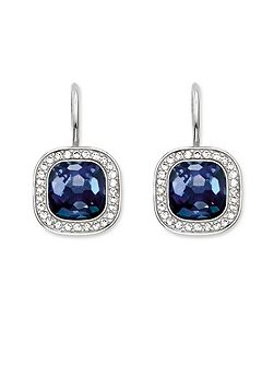 Secret of cosmo blue corundum earrings