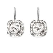 Secret of cosmo white pave earrings