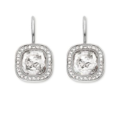 Thomas Sabo Secret of cosmo white pave earrings
