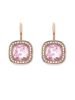 Secret of cosmo pink rose gold earrings