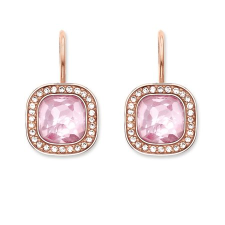 Thomas Sabo Secret of cosmo pink rose gold earrings