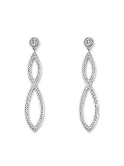 Glam & soul white pave long earrings