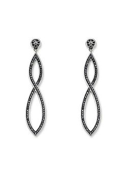 Glam & soul black pave long earrings