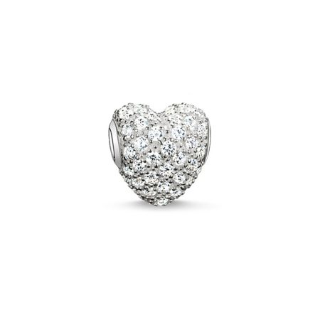 Thomas Sabo Karma beads white pave heart bead