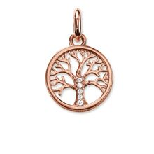Thomas Sabo Karma beads tree pendant 18k rose gold