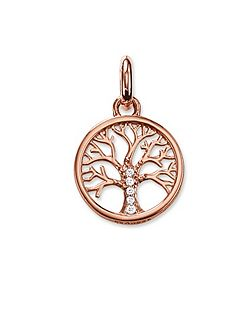 Karma beads tree pendant 18k rose gold