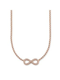 Glam & soul rose gold infinity necklace