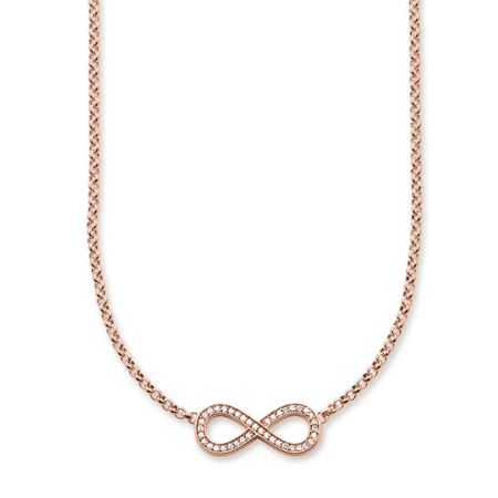 Thomas Sabo Glam & soul rose gold infinity necklace