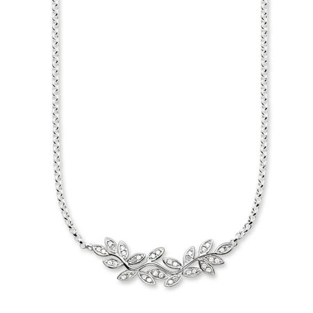 Thomas Sabo Fairy twines silver leaf necklace